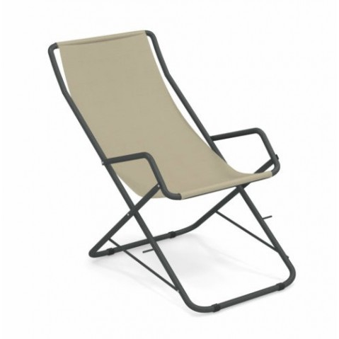 chaise longue bahama emu fer ancien beige