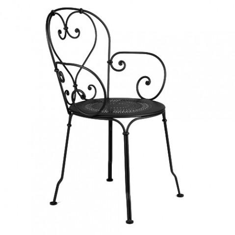 1900 Fauteuil Empilable Design Fermob Noir
