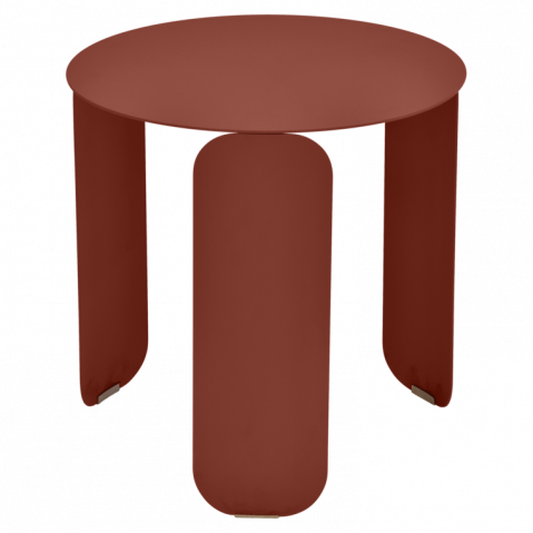 Table basse BEBOP de Fermob, D. 45, ocre rouge