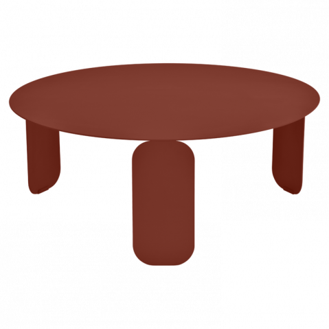 Table basse BEBOP de Fermob, D. 80, ocre rouge
