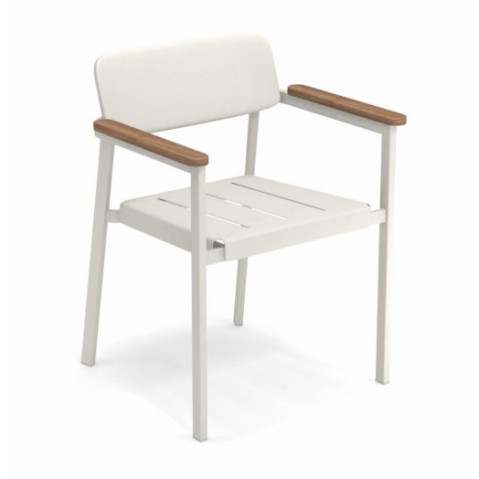 fauteuil shine emu blanc mat
