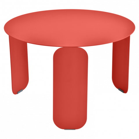 Table basse BEBOP de Fermob, D. 60, Capucine