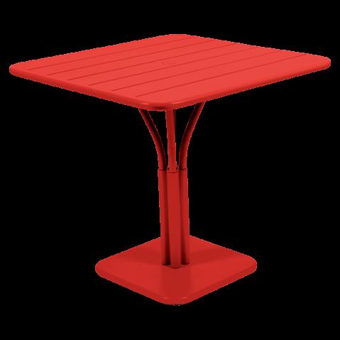 TABLE LUXEMBOURG 80X80CM 1 PIED, 23 couleurs de FERMOB