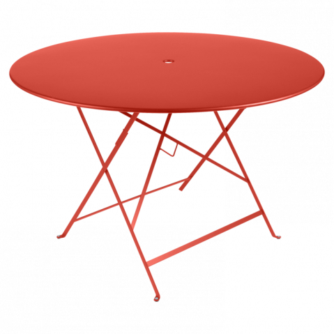 TABLE PLIANTE BISTRO 117CM ROSE CAPUCINE de FERMOB