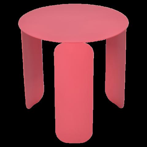 Table basse BEBOP de Fermob, D. 45, Rose praline