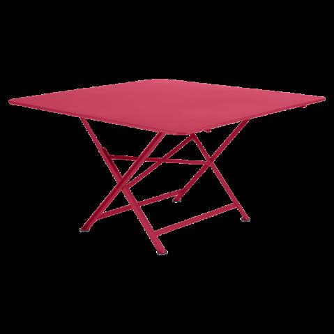 TABLE PLIANTE CARGO 130X130CM ROSE PRALINE de FERMOB