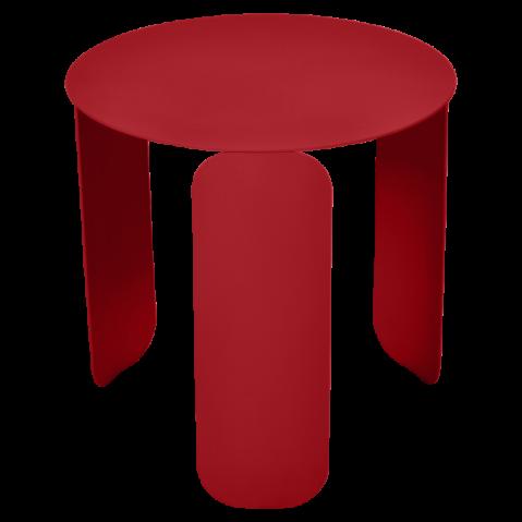 TABLE BASSE BEBOP DE FERMOB, D.45, COQUELICOT