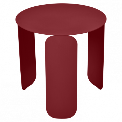 TABLE BASSE BEBOP DE FERMOB, D.45, PIMENT