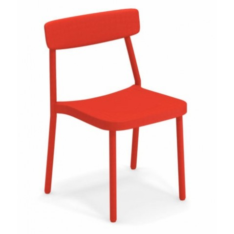 chaise grace emu rouge