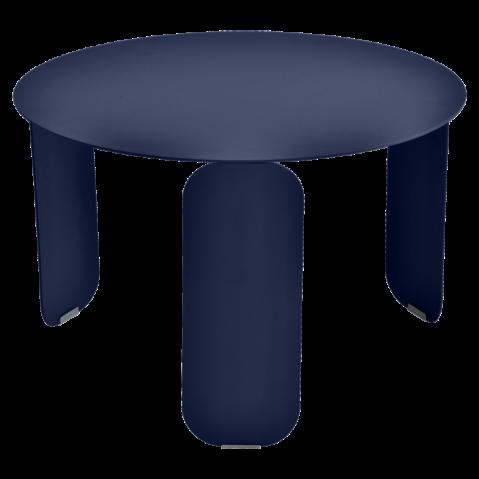 Table basse BEBOP de Fermob, D. 60, Bleu abysse