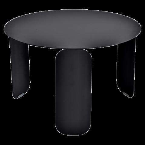 Table basse BEBOP de Fermob, D. 60, Réglisse