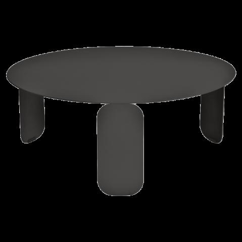 Table basse BEBOP de Fermob, D. 80, Réglisse