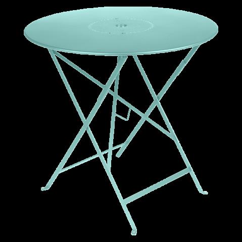 TABLE FLOREAL 77CM BLEU LAGUNE de FERMOB