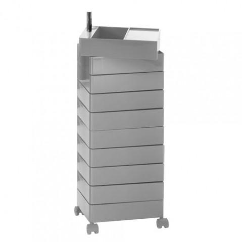 360° Container Rangement à 10 tiroirs Magis Gris