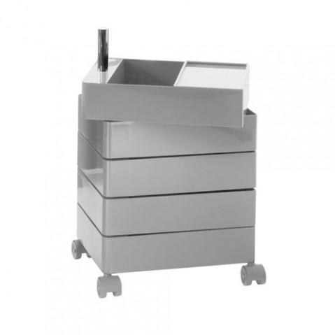 360° Container Rangement 5 tiroirs Magis Gris