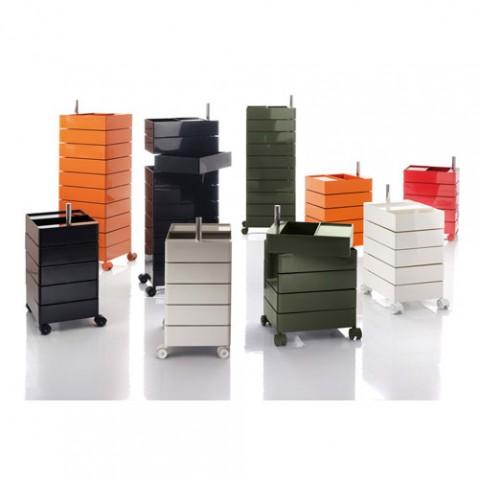 360° Container Rangement à 10 tiroirs Magis Blanc