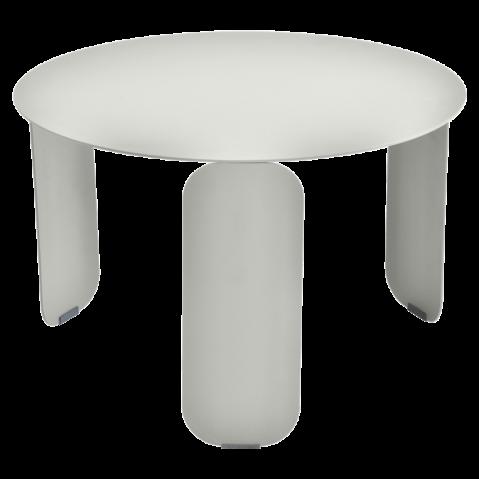 Table basse BEBOP de Fermob, D. 60, Gris métal