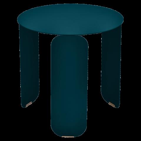 TABLE BASSE BEBOP DE FERMOB, D.45, BLEU ACAPULCO