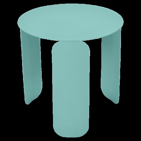 Table basse BEBOP de Fermob, D. 45, Bleu lagune