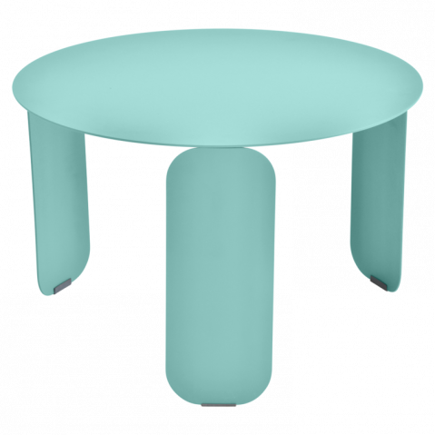Table basse BEBOP de Fermob, D. 60, Bleu lagune