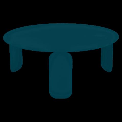 Table basse BEBOP de Fermob, D. 80, bleu acapulco