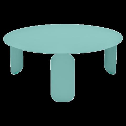 Table basse BEBOP de Fermob, D. 80, Bleu lagune