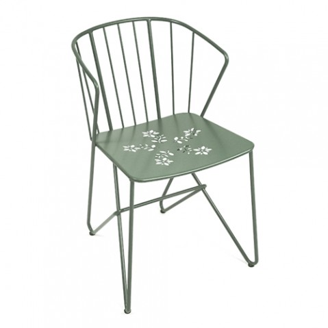 fauteuil flower fermob romarin