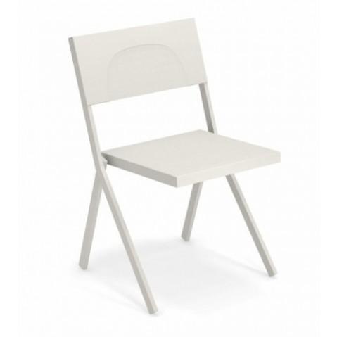 chaise mia emu blanc mat