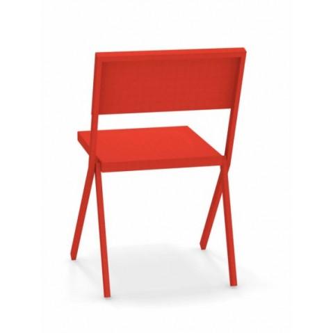 chaise mia emu rouge écarlate