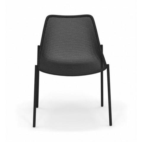 chaise round emu noir