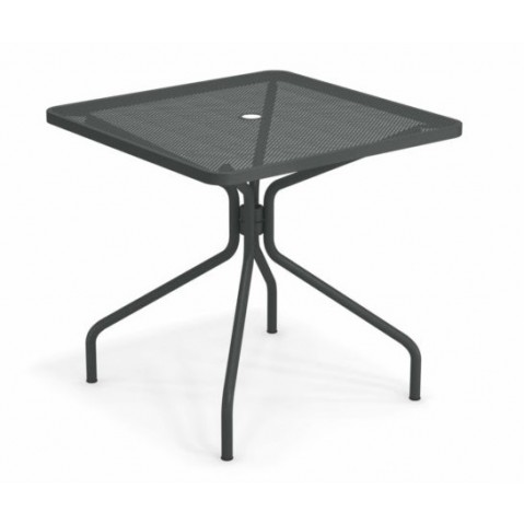 table carree cambi 80 emu fer ancien