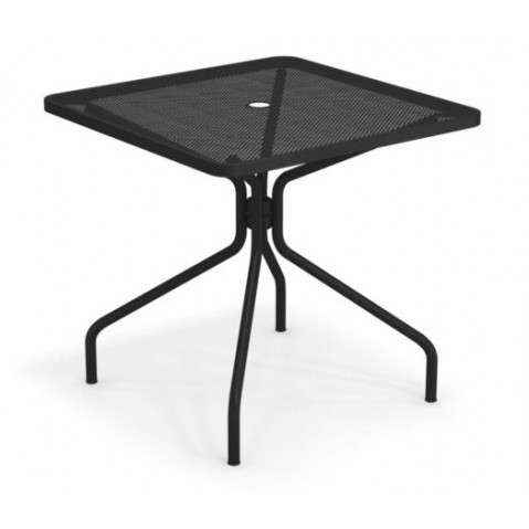 table carree cambi 80 emu noir