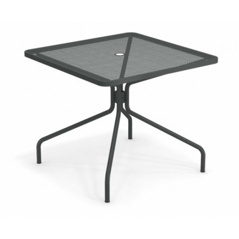 table carree cambi 90 emu fer ancien