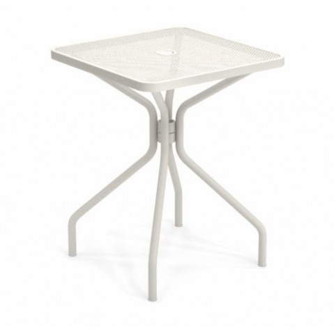table carree cambi 60 emu blanc mat