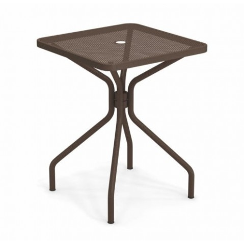 table carree cambi 60 emu marron d'inde