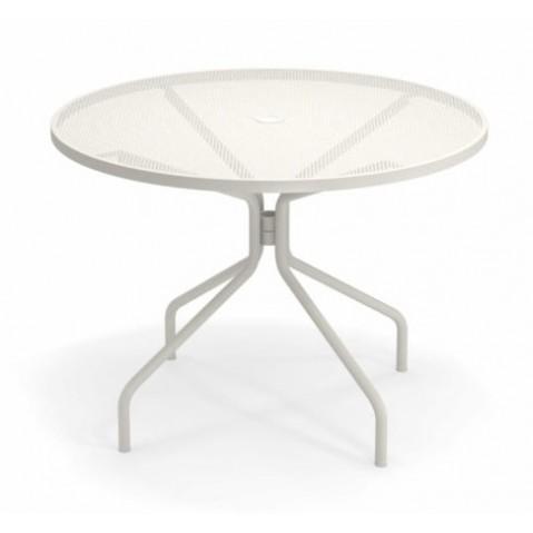 TABLE RONDE CAMBI, Ø106 cm, Blanc mat de EMU