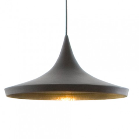 SUSPENSION BEAT LIGHT WIDE LAQUÉ NOIR de TOM DIXON