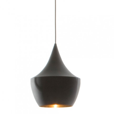 SUSPENSION BEAT LIGHT FAT NOIR LAQUÉ de TOM DIXON