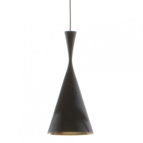 SUSPENSION BEAT LIGHT TALL NOIR LAQUÉ de TOM DIXON