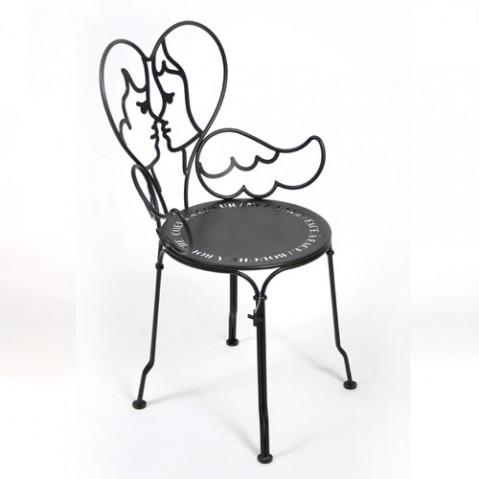 Ange Chaise Design Fermob Noir