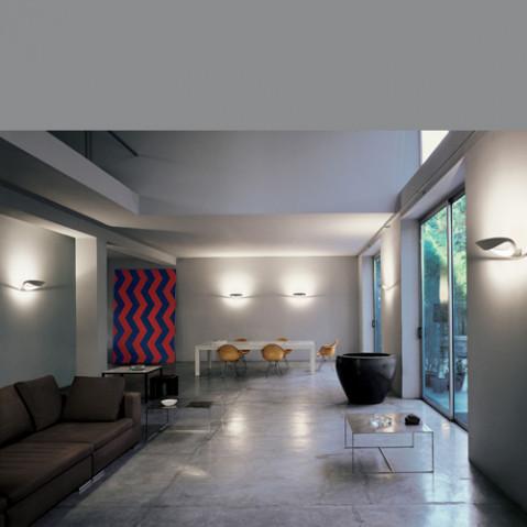 applique murale mesmeri led artemide blanc