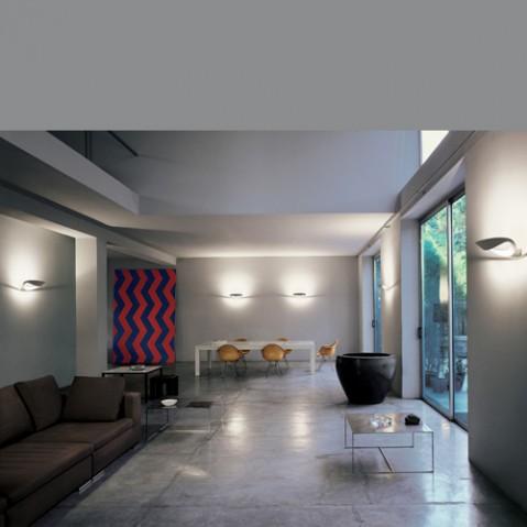 applique murale mesmeri led artemide chrome