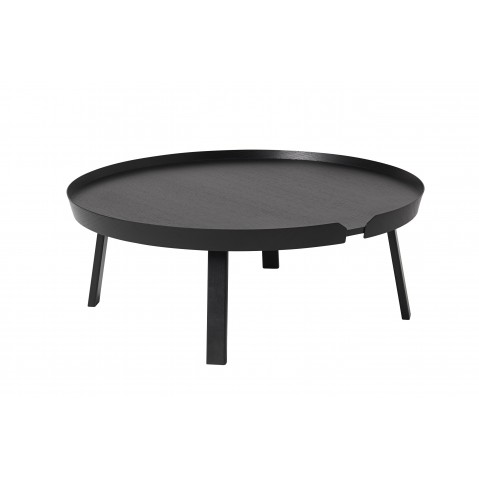 TABLE BASSE AROUND 95 CM NOIR de MUUTO