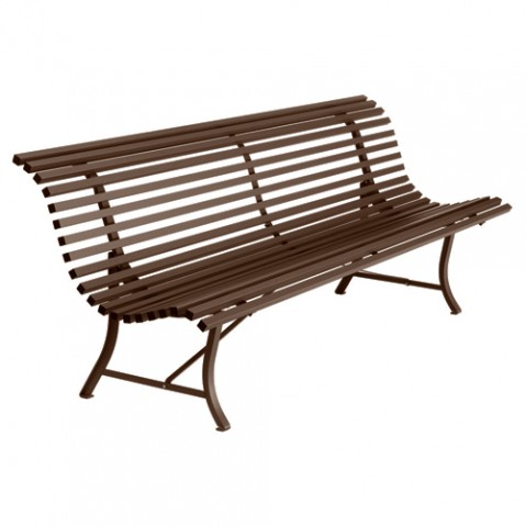 banc louisiane fermob rouille