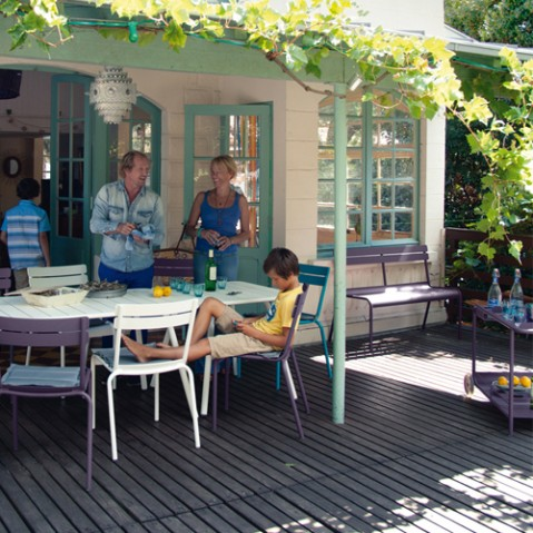 banc luxembourg 2 3 places fermob reglisse