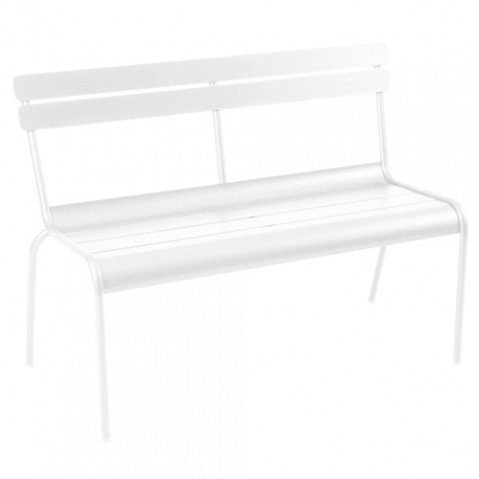 banc luxembourg 2 3 places fermob blanc