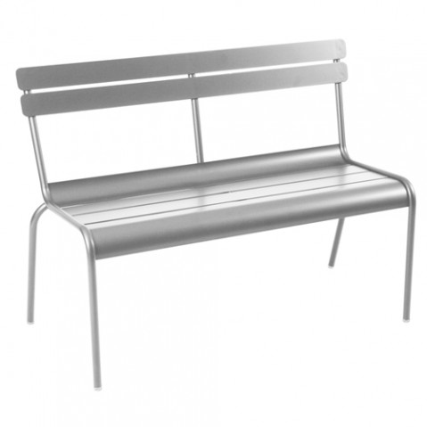 banc luxembourg fermob gris metal