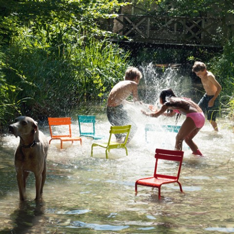 banc enfant luxembourg kid fermob muscade
