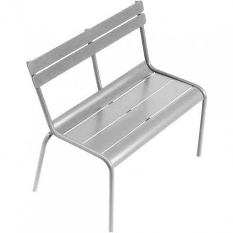 banc enfant luxembourg kid fermob gris metal