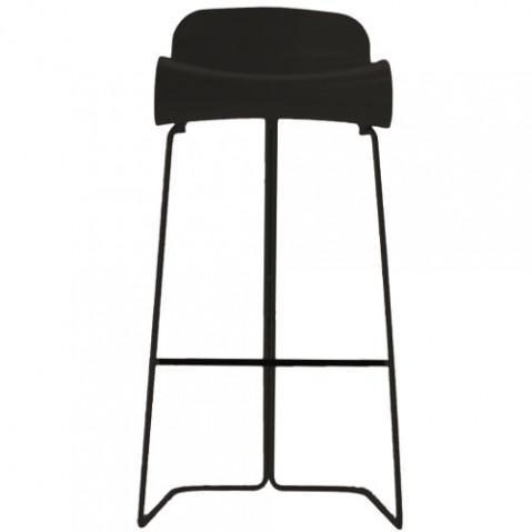 bcn haut tabouret hauteur 76 cm noir de kristalia. Black Bedroom Furniture Sets. Home Design Ideas